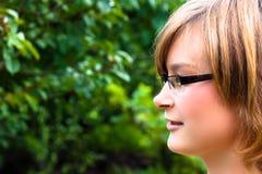 Красивейшая сторона молодой женщины Стоковая Фотография RF