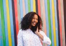красивейшая счастливая женщина Стоковая Фотография