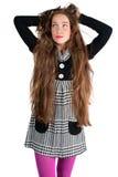 красивейшая с волосами длинняя женщина Стоковое фото RF