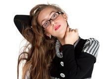 красивейшая с волосами длинняя секретарша Стоковое Изображение RF