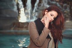 красивейшая с волосами красная женщина Стоковое фото RF