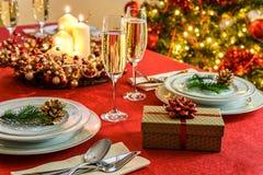 красивейшая таблица рождества Стоковые Фото