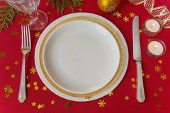 красивейшая таблица рождества Стоковая Фотография