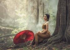 Красивейшая тайская девушка Стоковые Фото