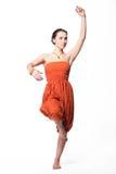 красивейшая танцулька танцуя индийская женщина стоковые изображения rf