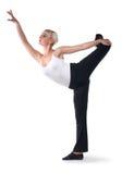 красивейшая танцулька делает женщину тренировок Стоковое Изображение