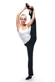 красивейшая танцулька делает женщину тренировок Стоковое Изображение RF