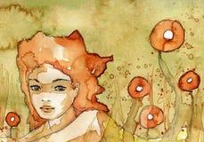 красивейшая трава девушки бесплатная иллюстрация