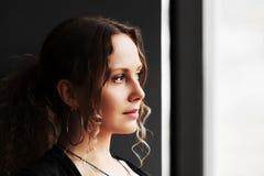 красивейшая унылая женщина Стоковые Изображения RF