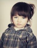 Красивейшая унылая маленькая девочка Стоковое Изображение RF