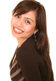 красивейшая усмешка девушки Стоковое фото RF