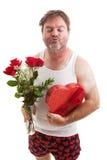 красивейшая дуя женщина valentines формы поцелуя сердца дня накаляя волшебная Стоковое Изображение