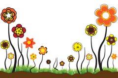 Красивейшая флористическая иллюстрация сезонных цветенй Стоковая Фотография