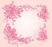 красивейшая флористическая рамка сделала по образцу Стоковая Фотография
