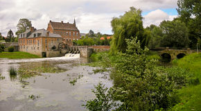Красивейшая французская водяная мельница Стоковое Фото
