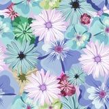 красивейшая флористическая картина картина безшовная Цветы Яркие бутоны, листья, цветки Цветки для поздравительных открыток, плак Стоковое Фото