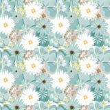 красивейшая флористическая картина картина безшовная Цветы Яркие бутоны, листья, цветки Цветки для поздравительных открыток, плак Стоковые Фото