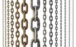 красивейшая цепная габаритная диаграмма металл 3 иллюстрации очень Стоковое Изображение RF