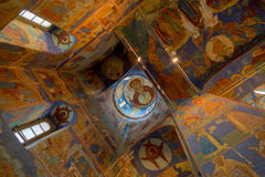 красивейшая церковь потолка правоверная Стоковые Изображения RF
