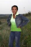 красивейшая черная женщина дюн Стоковое Изображение
