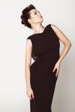 красивейшая черная женщина платья стоковое фото rf