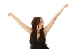 красивейшая черная кавказская сексуальная женщина нижнего белья Стоковые Фото