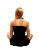 красивейшая черная модель платья Стоковые Изображения