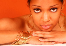 красивейшая чернокожая женщина Стоковая Фотография RF