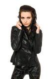 красивейшая чернота одевает женщину портрета стоковые фотографии rf