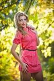 Красивейшая шикарная женщина в парке осени Стоковые Фото