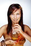 красивейшая экзотическая девушка Стоковые Фото