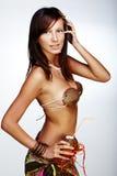 красивейшая экзотическая девушка Стоковое Изображение