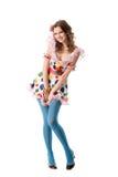 красивейшая эксцентричная смешная девушка Стоковая Фотография RF