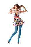 красивейшая эксцентричная смешная девушка Стоковое фото RF