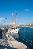 красивейшая яхта порта mykon зрелищности Стоковые Изображения