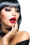 Красивейшая девушка брюнет Стоковое Фото