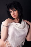 красивейшая девушка способа Стоковая Фотография RF