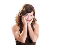 красивейшая девушка smilling Стоковое Изображение RF