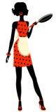 Красивейшая домохозяйка с лотком Стоковые Фото