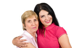 красивейшая дочь обнимая мать Стоковое Изображение RF