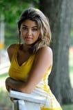 красивейшая biracial женщина портрета загородки Стоковые Фото