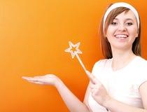 красивейшая fairy счастливая палочка Стоковое Фото