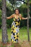 красивейшая multiracial женщина outdoors 2 Стоковые Фотографии RF