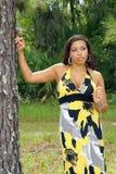 красивейшая multiracial женщина outdoors 7 Стоковые Фото