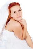 Красивейшая red-haired невеста стоковая фотография rf