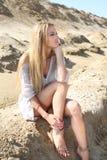 красивейшее белокурое лето девушки дня Стоковое Изображение