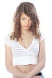 красивейшее белокурое с волосами длиннее Стоковая Фотография