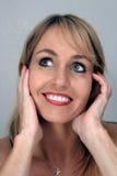 красивейшее белокурое headshot 3 Стоковое Изображение