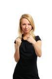 Красивейшее бой молодой женщины Стоковое Изображение