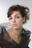 красивейшее брюнет завивает модель девушки Стоковая Фотография